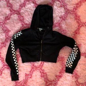 Cute cropped zip hoodie